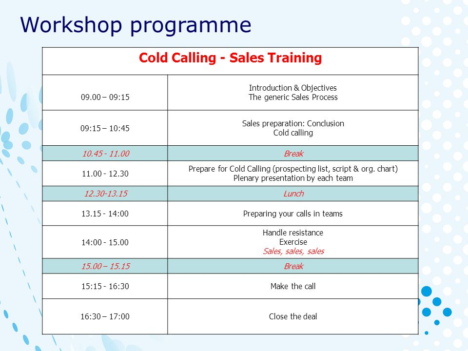 Cold Calling - Sales Training