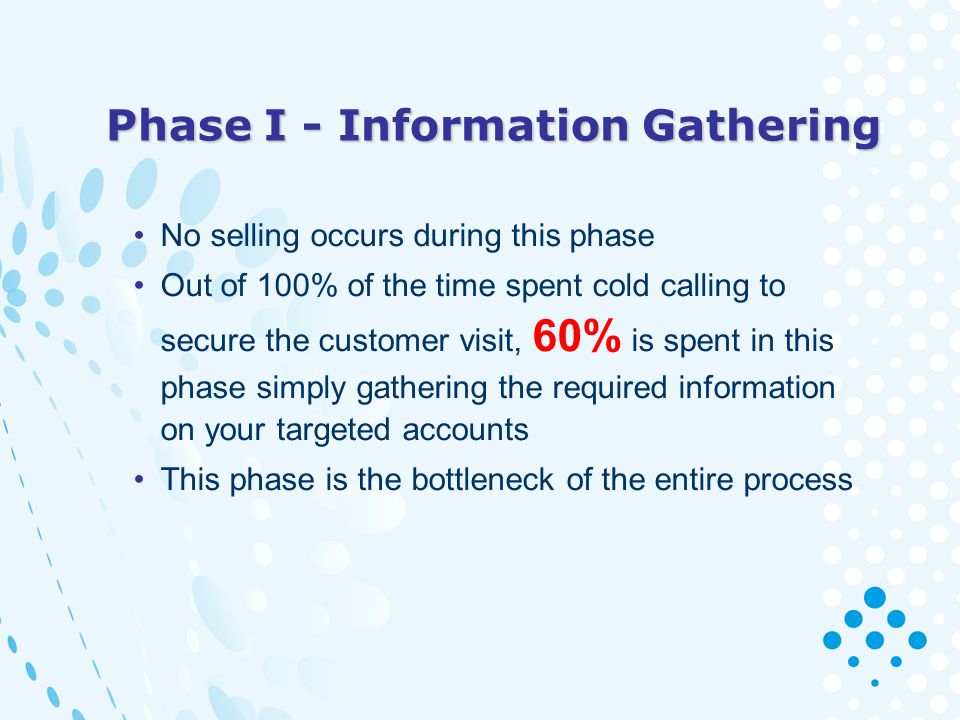 Phase I - Information Gathering