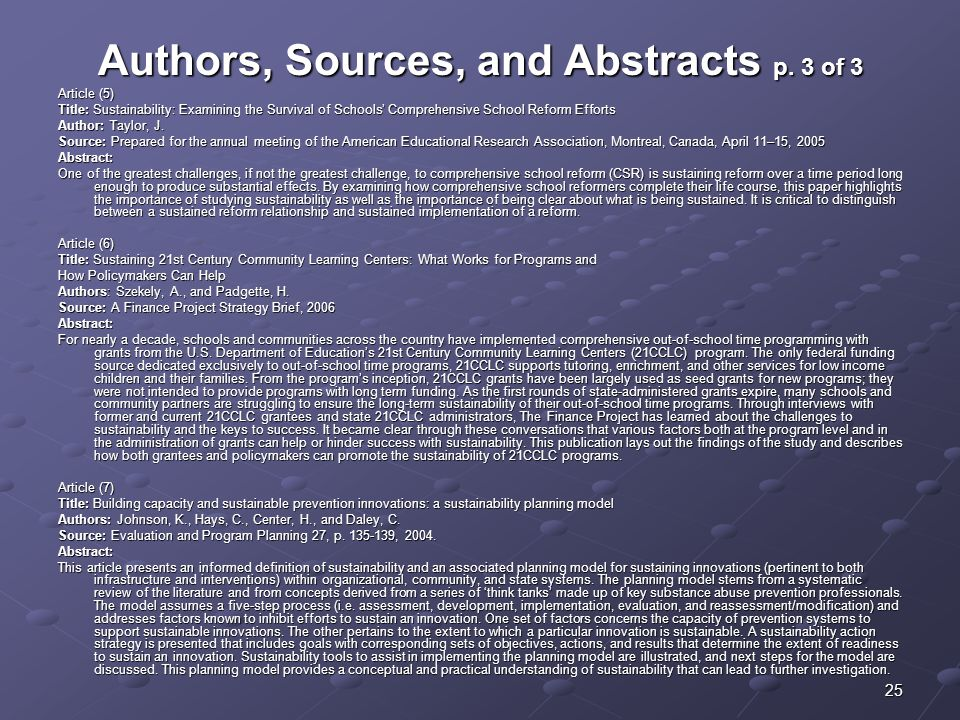 Authors, Sources, and Abstracts p. 3 of 3