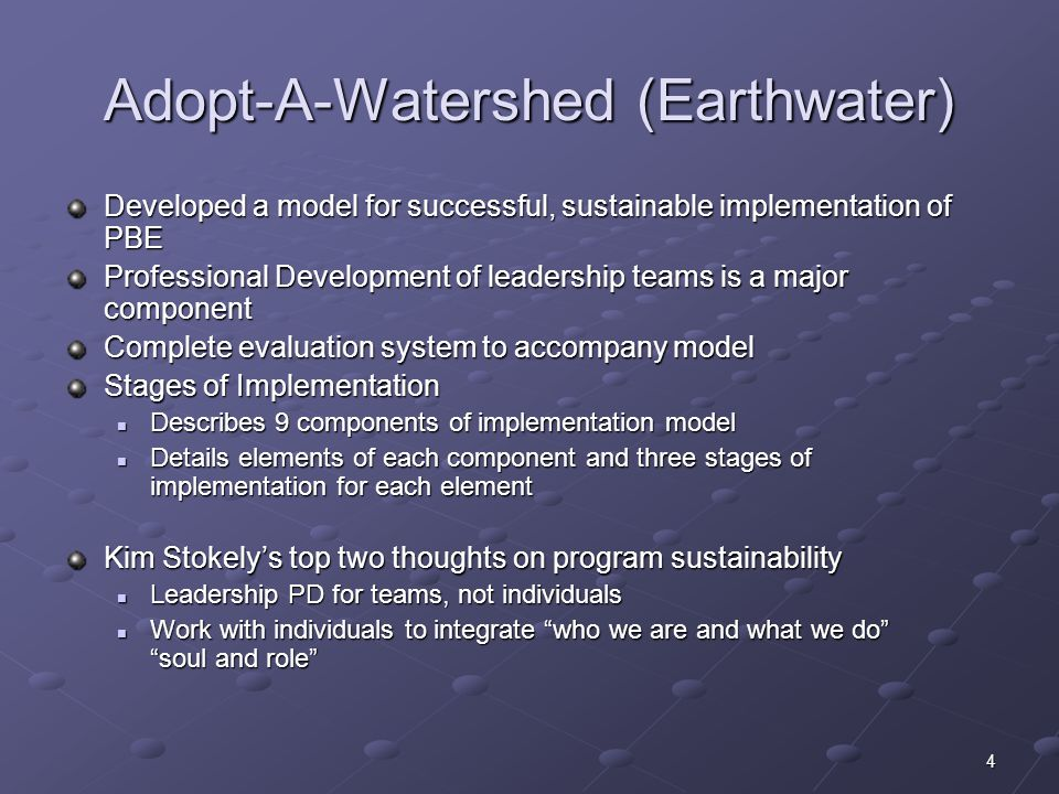 Adopt-A-Watershed (Earthwater)