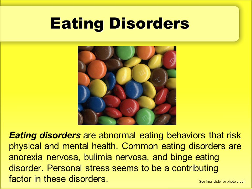 Eating Disorders Discuss: What are the characteristics of anorexia nervosa, bulimia nervosa, and binge eating disorder