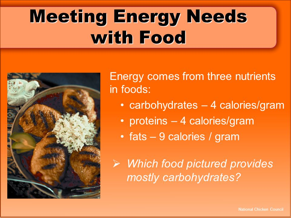 Meeting Energy Needs with Food