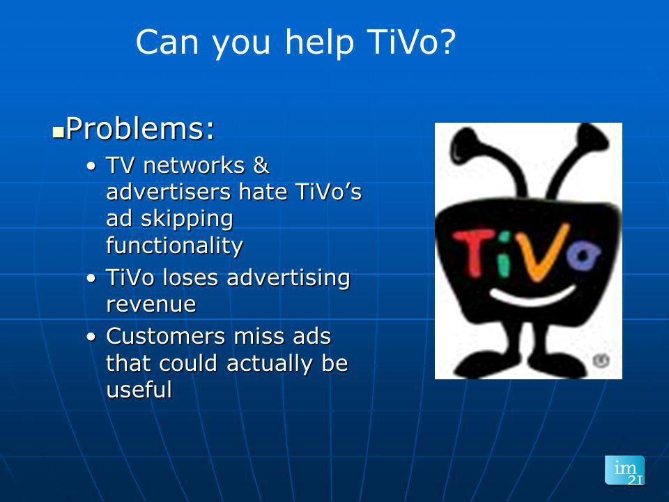 Can you help TiVo Problems: