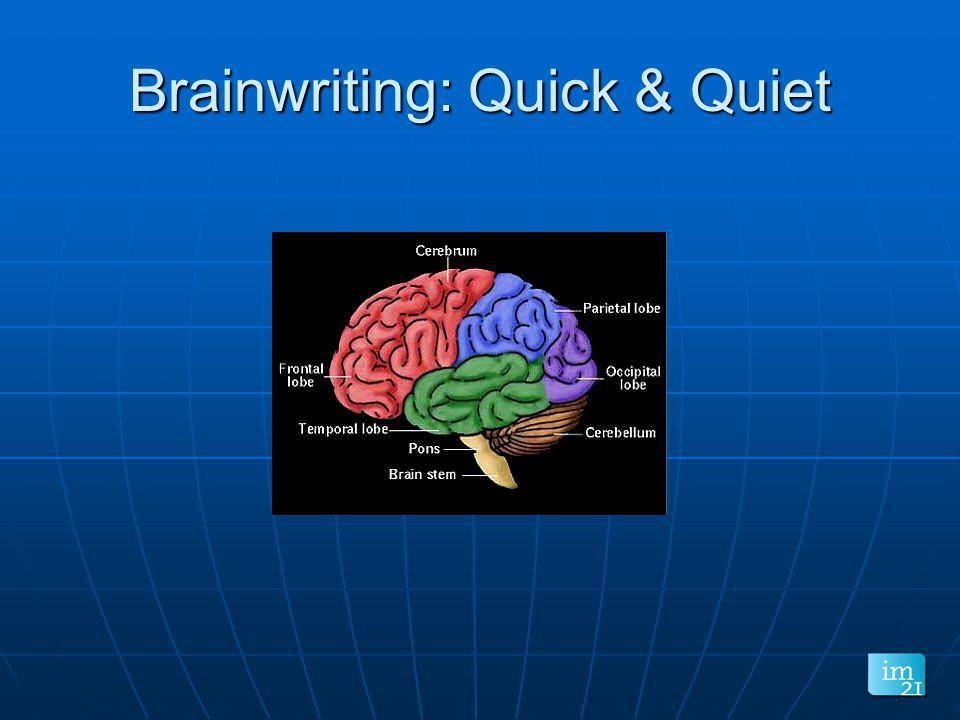 Brainwriting: Quick & Quiet