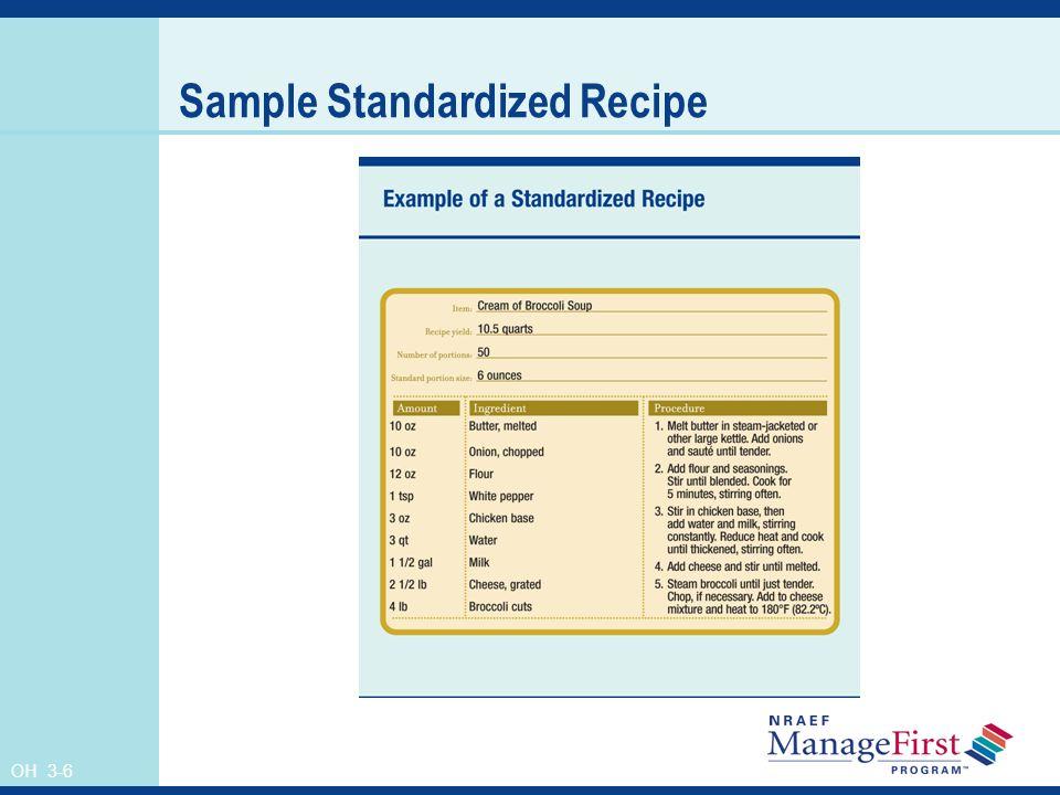 Sample Standardized Recipe