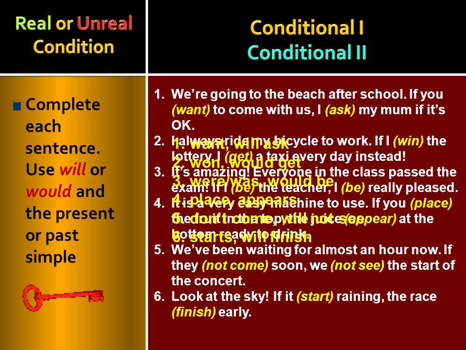 Conditional I Conditional II