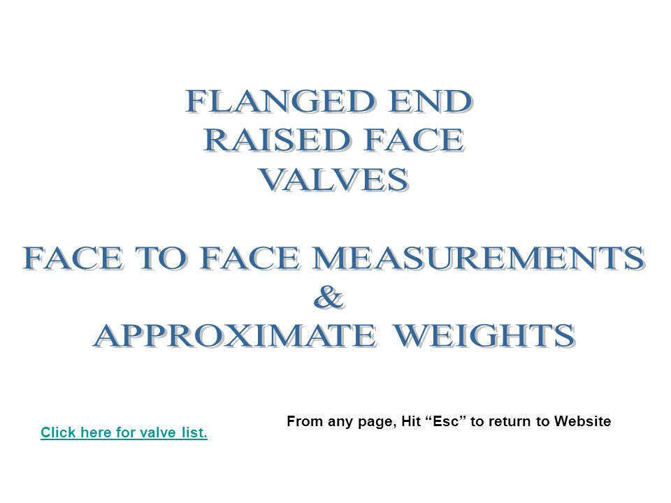 FACE TO FACE MEASUREMENTS