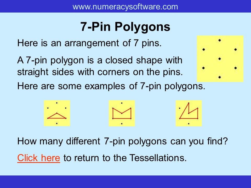 7-Pin Polygons Here is an arrangement of 7 pins.