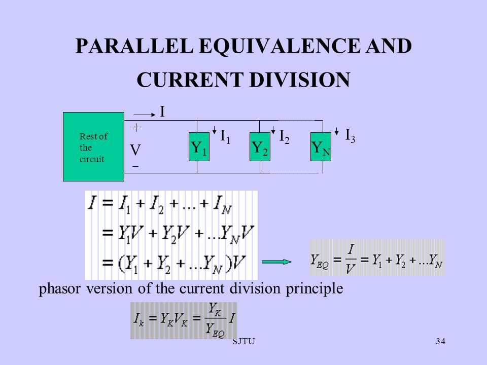 PARALLEL EQUIVALENCE AND CURRENT DIVISION