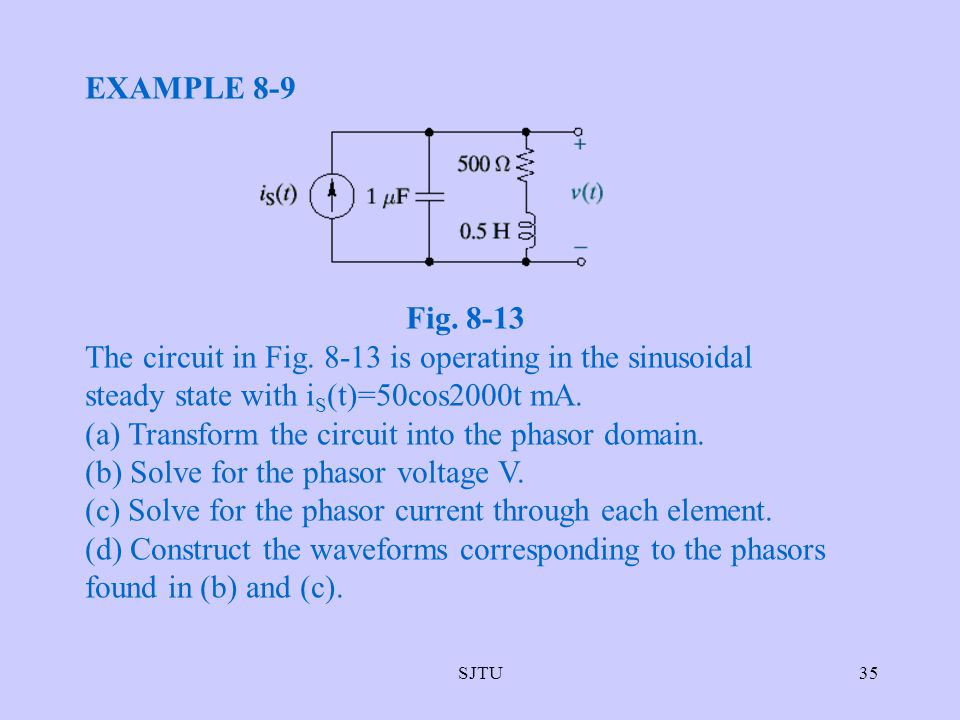 (a) Transform the circuit into the phasor domain.