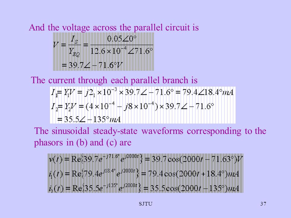 And the voltage across the parallel circuit is