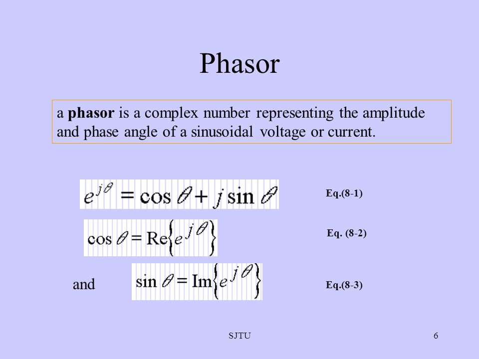 Phasor a phasor is a complex number representing the amplitude and phase angle of a sinusoidal voltage or current.