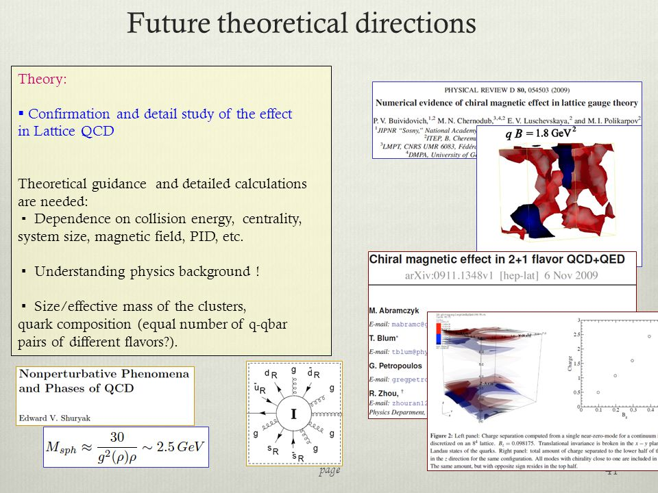 Future theoretical directions