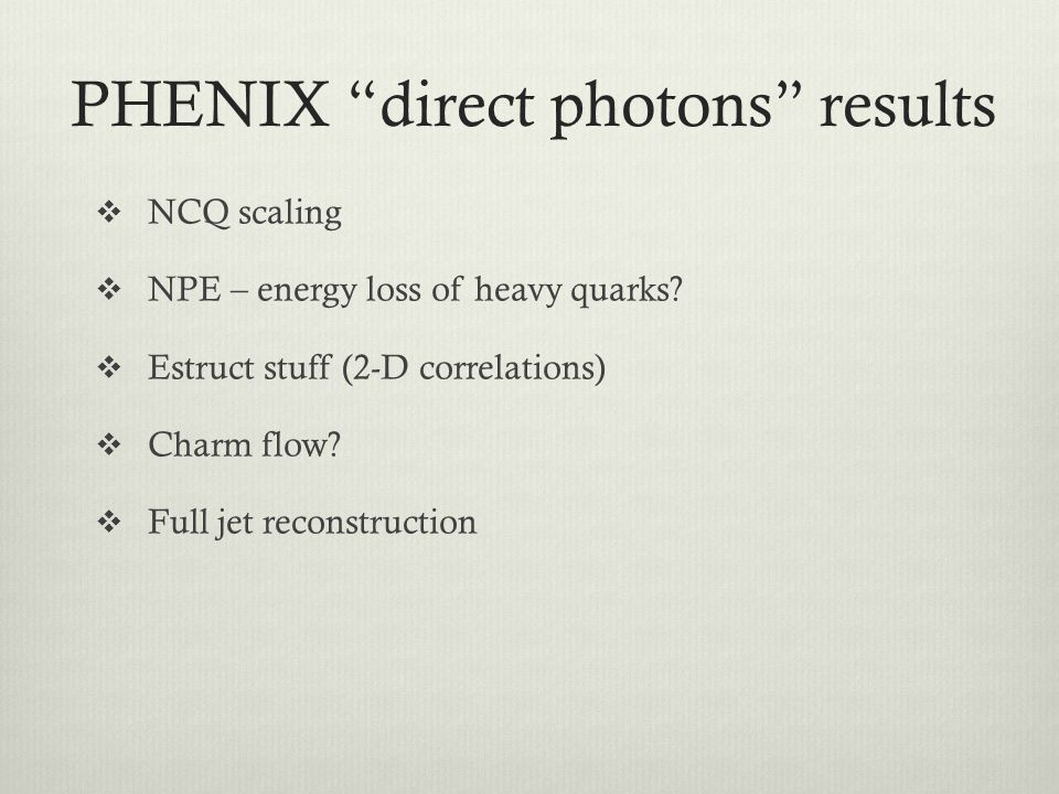 PHENIX direct photons results
