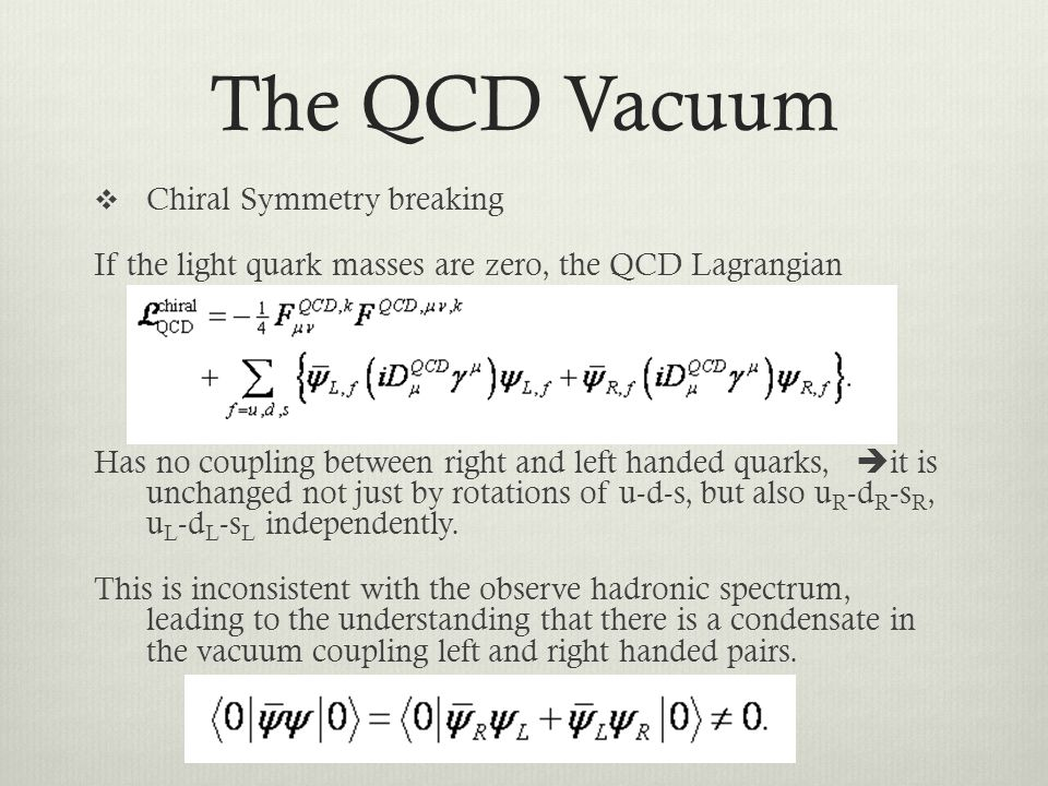 The QCD Vacuum Chiral Symmetry breaking