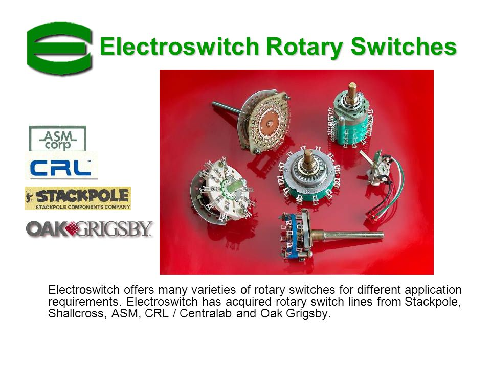 Electroswitch Rotary Switches
