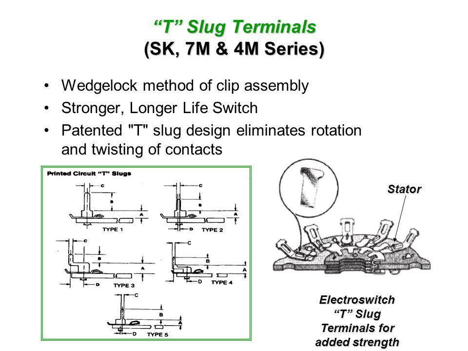T Slug Terminals (SK, 7M & 4M Series)