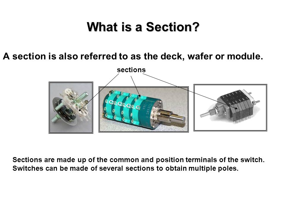 What is a Section A section is also referred to as the deck, wafer or module. sections.
