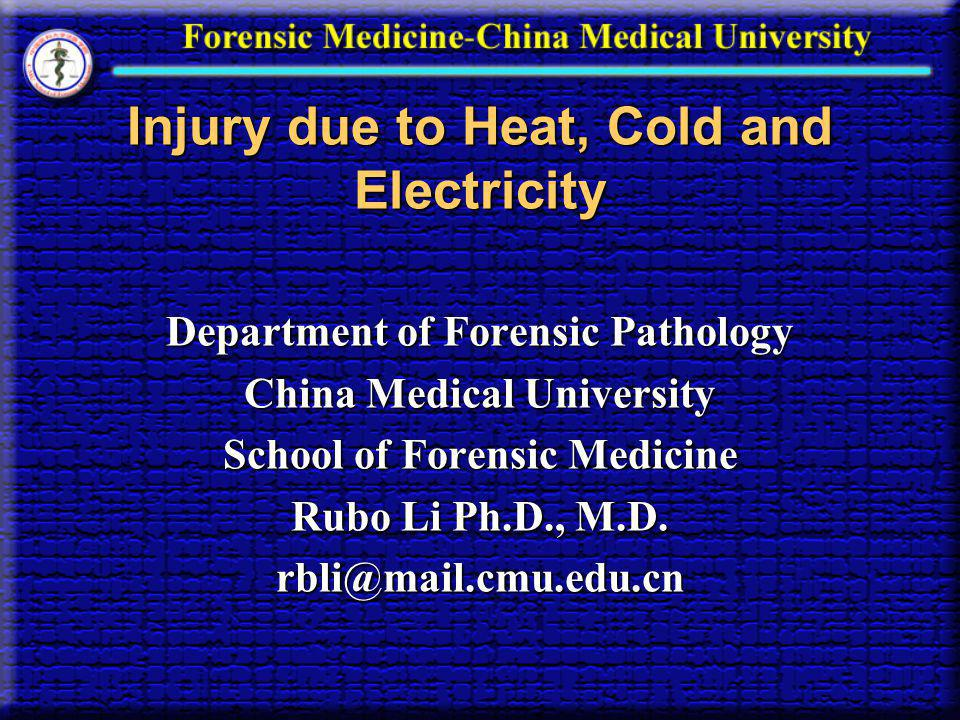 Injury due to Heat, Cold and Electricity
