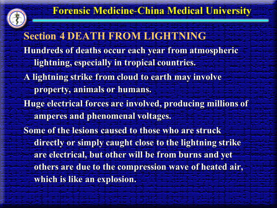 Section 4 DEATH FROM LIGHTNING