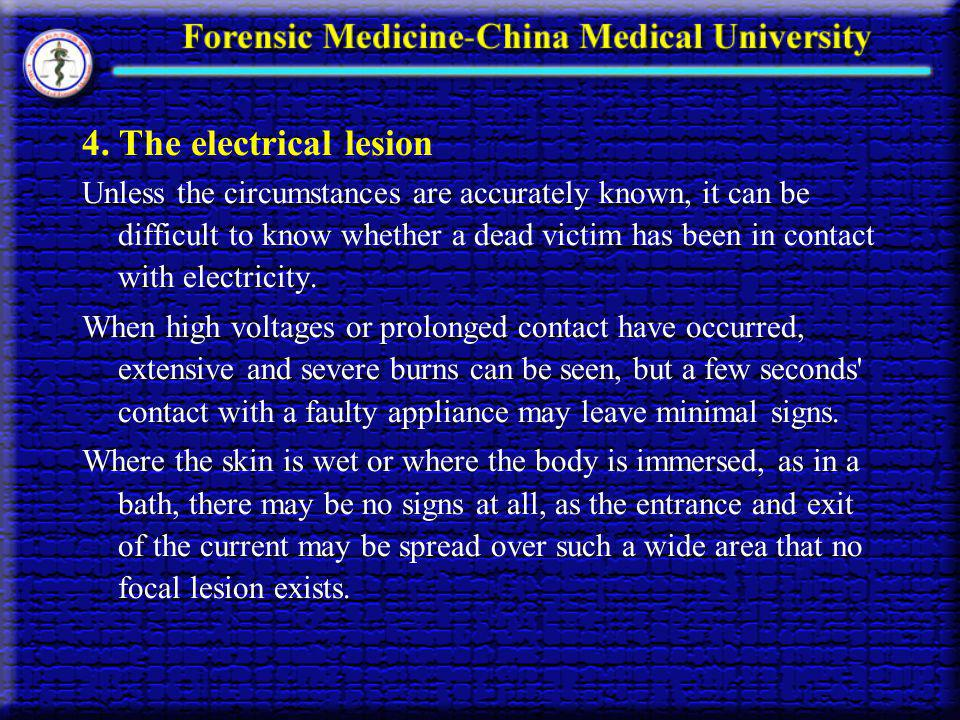4. The electrical lesion
