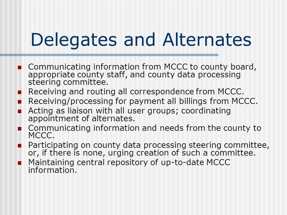 Delegates and Alternates