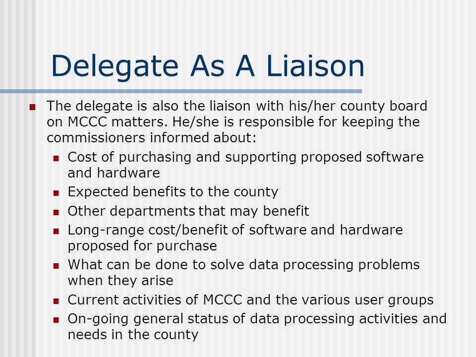 Delegate As A Liaison