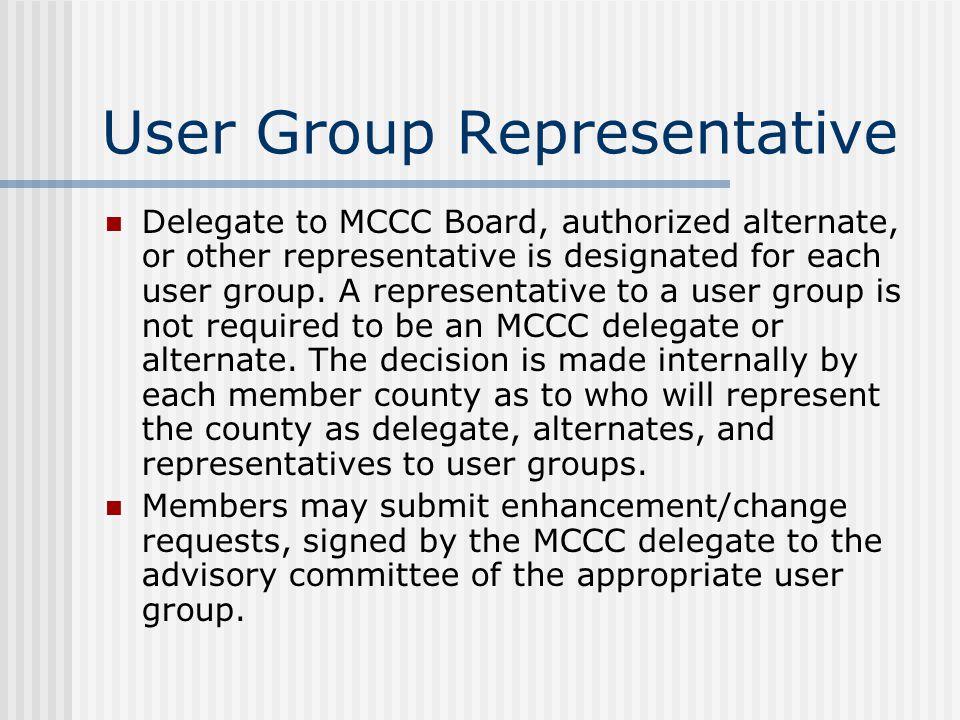 User Group Representative