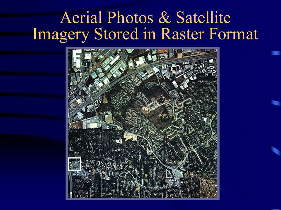 Aerial Photos & Satellite Imagery Stored in Raster Format