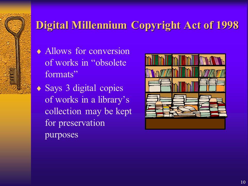 Digital Millennium Copyright Act of 1998