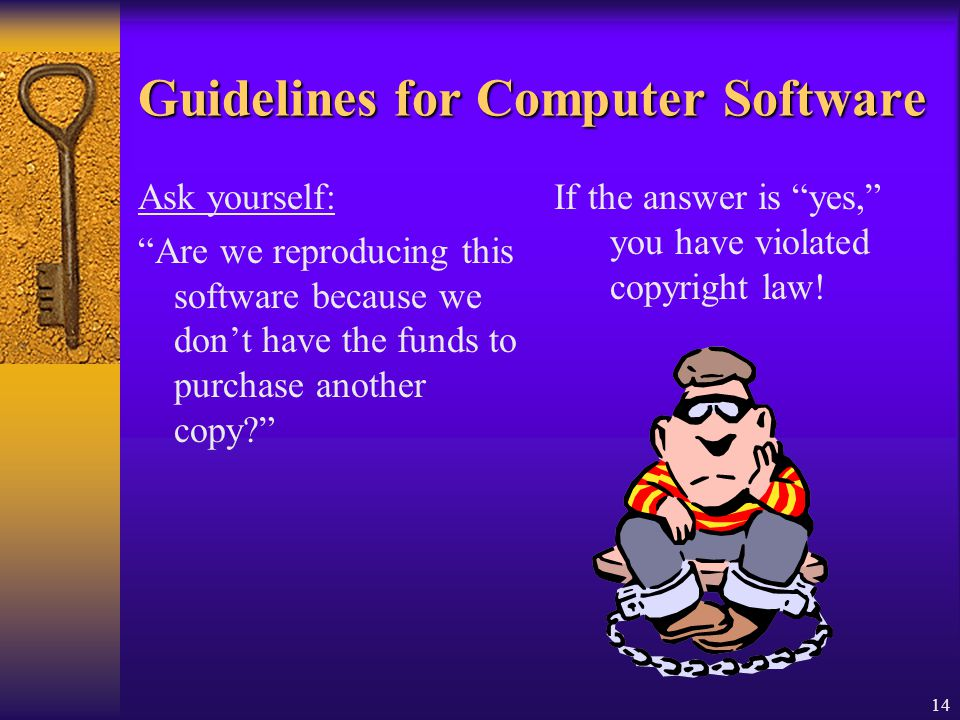 Guidelines for Computer Software