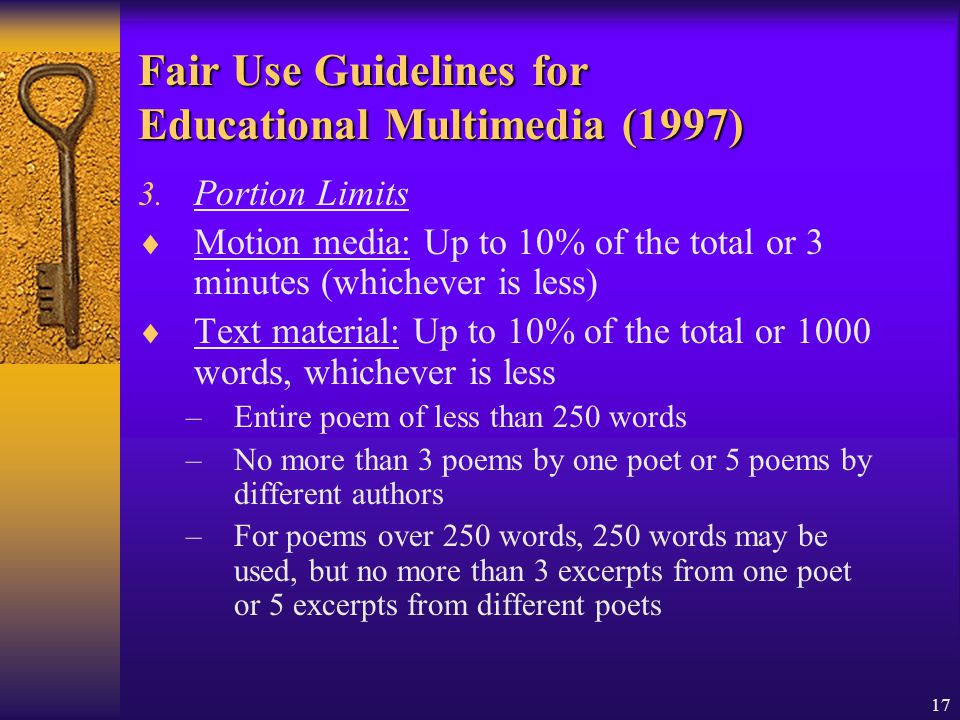 Fair Use Guidelines for Educational Multimedia (1997)