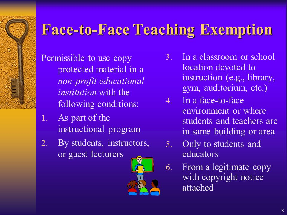 Face-to-Face Teaching Exemption