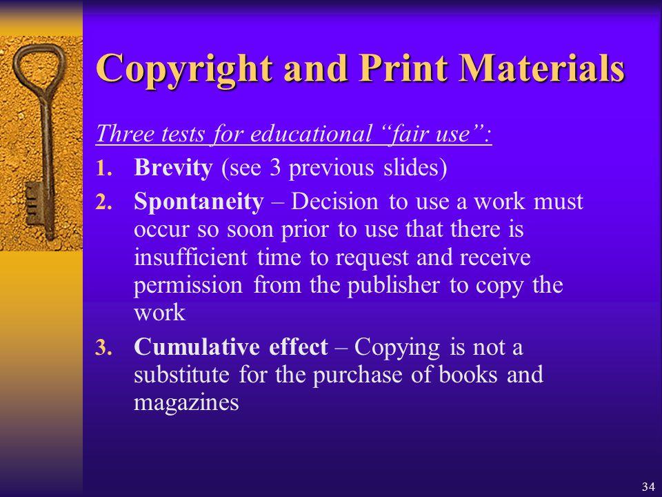 Copyright and Print Materials