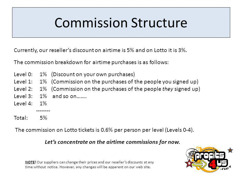 Let's concentrate on the airtime commissions for now.