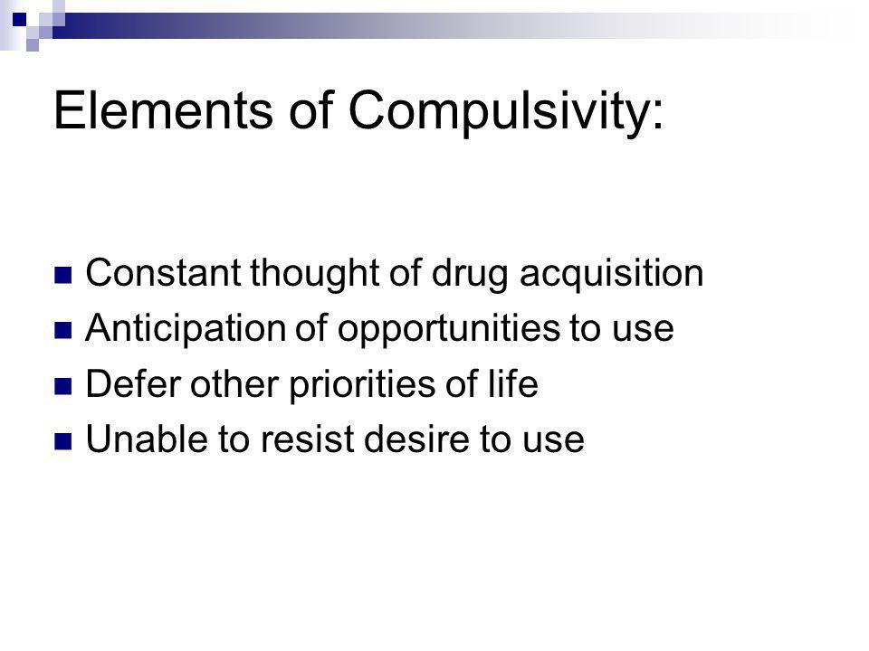 Elements of Compulsivity: