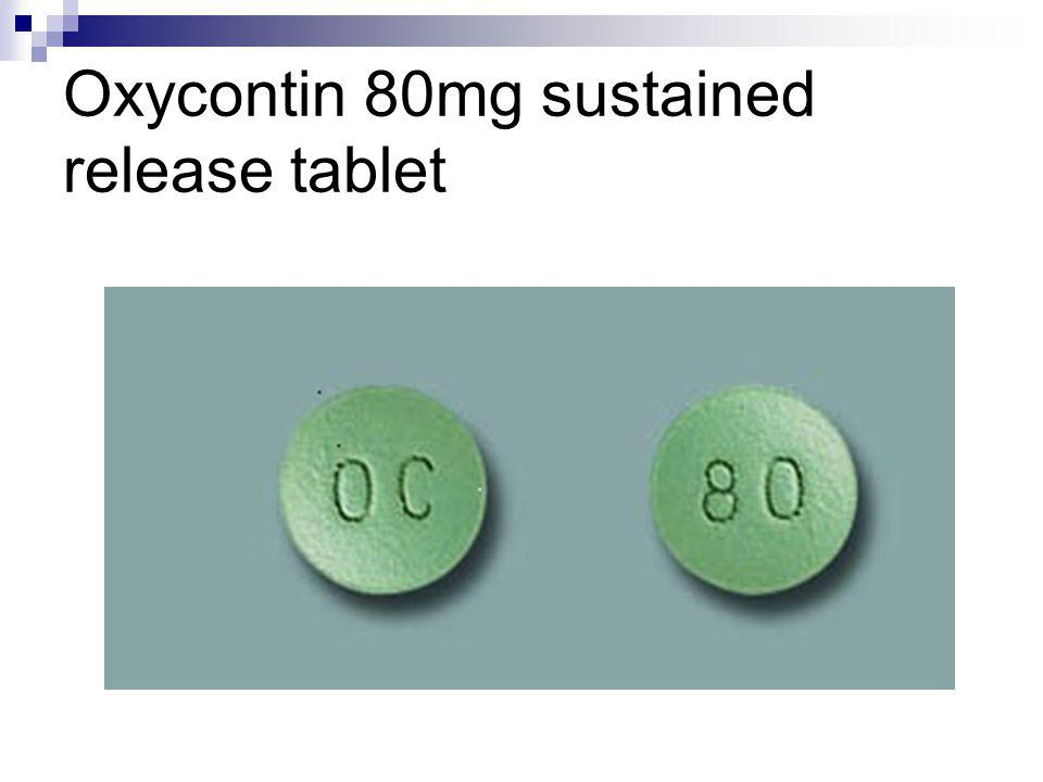 Oxycontin 80mg sustained release tablet