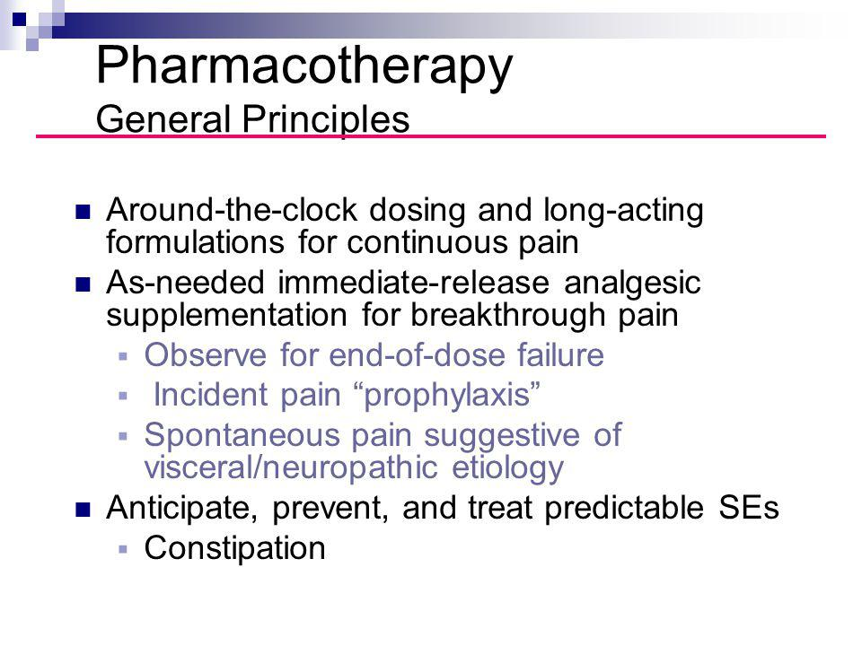 Pharmacotherapy General Principles