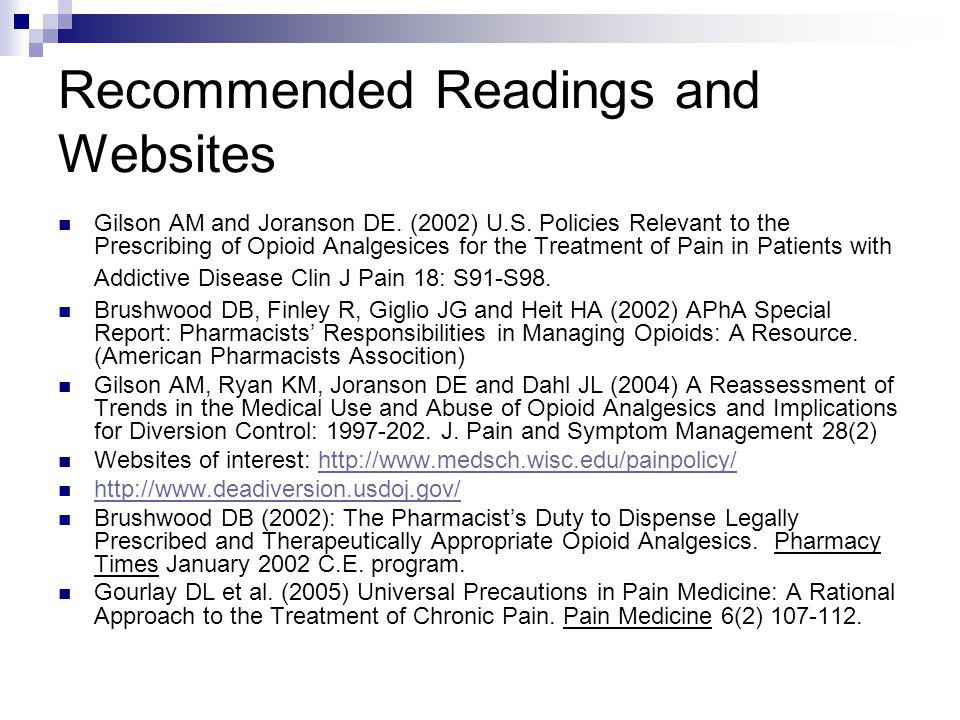 Recommended Readings and Websites