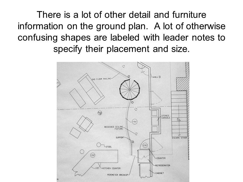 There is a lot of other detail and furniture information on the ground plan.