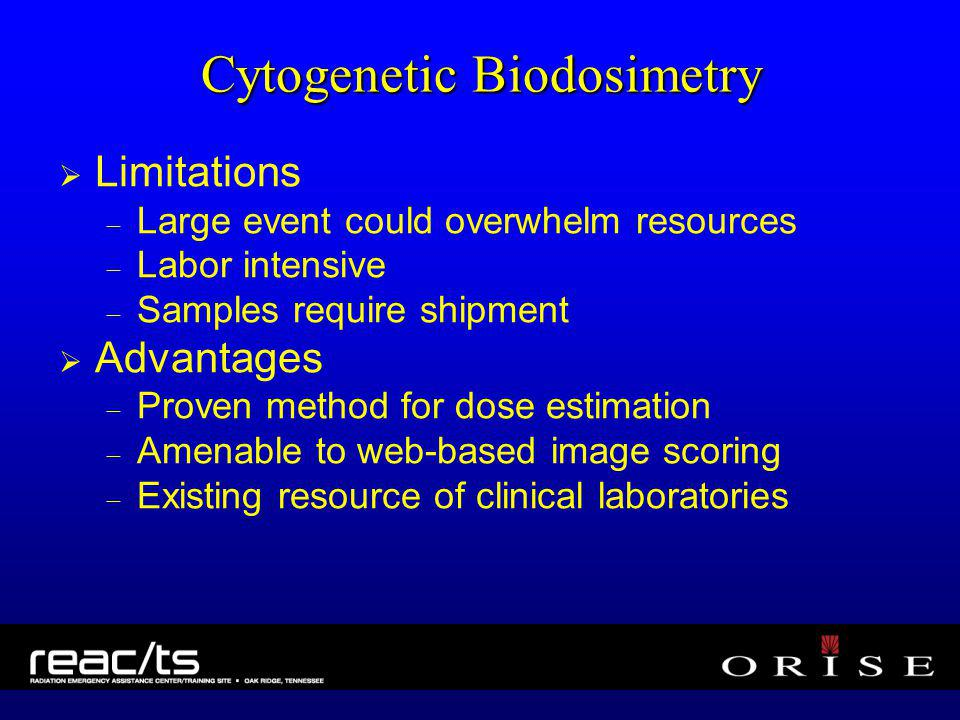 Cytogenetic Biodosimetry