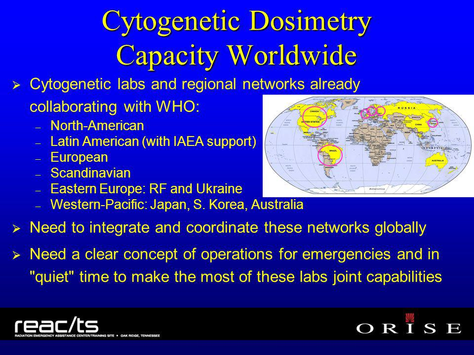 Cytogenetic Dosimetry Capacity Worldwide