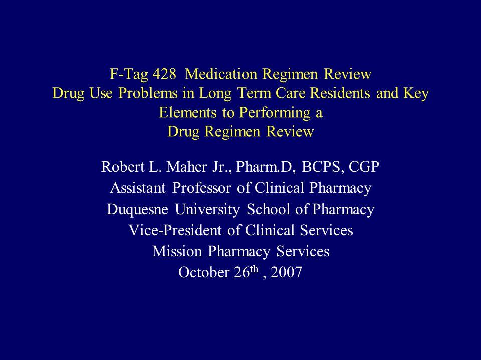 Robert L. Maher Jr., Pharm.D, BCPS, CGP