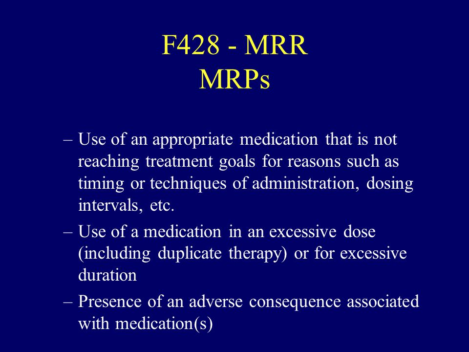 F428 - MRR MRPs