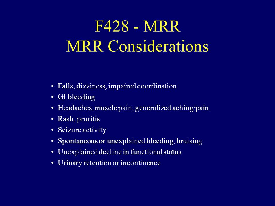 F428 - MRR MRR Considerations