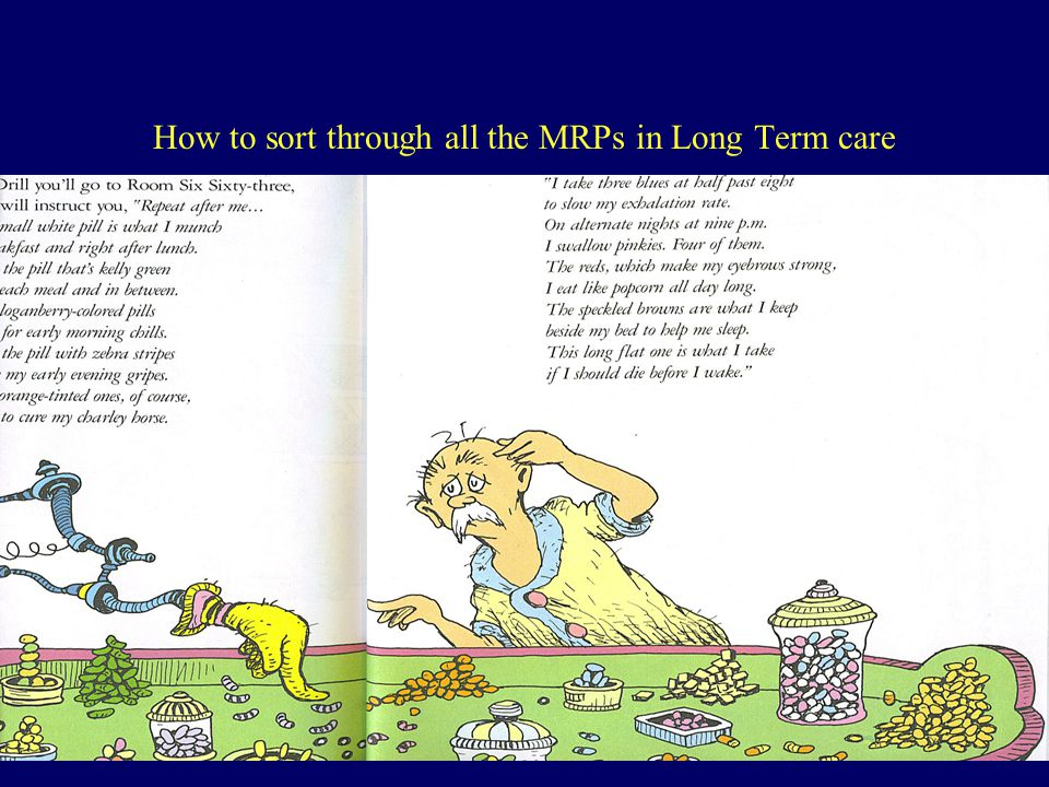 How to sort through all the MRPs in Long Term care