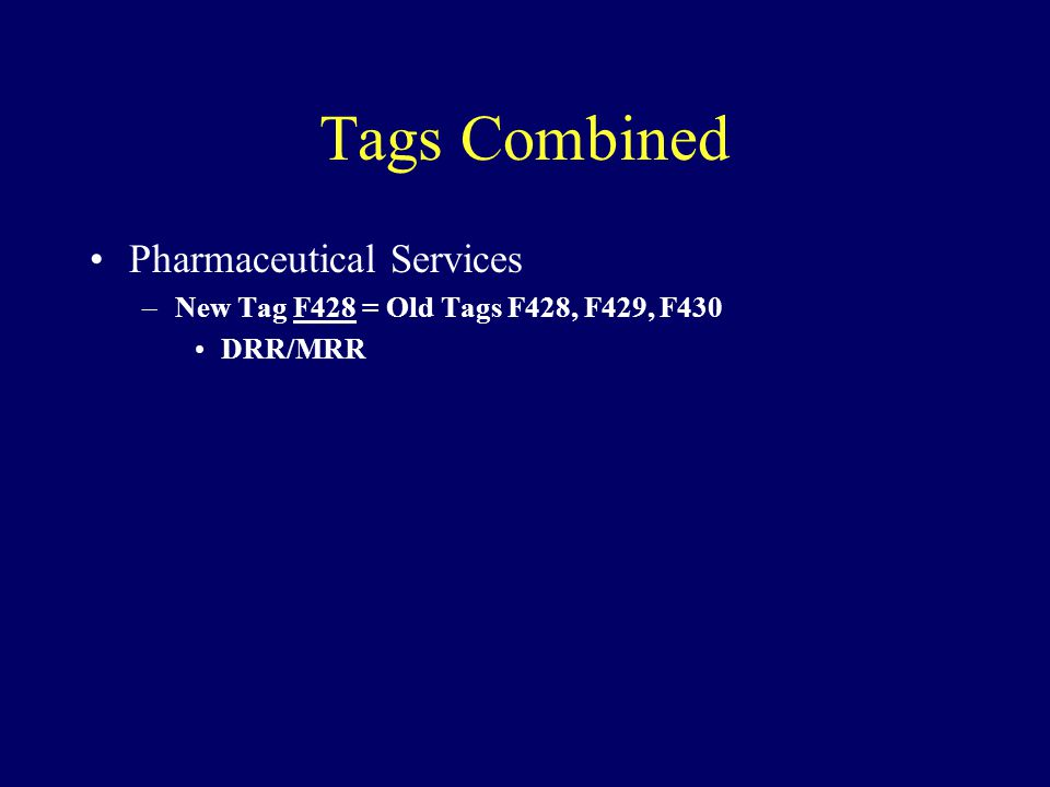 Tags Combined Pharmaceutical Services