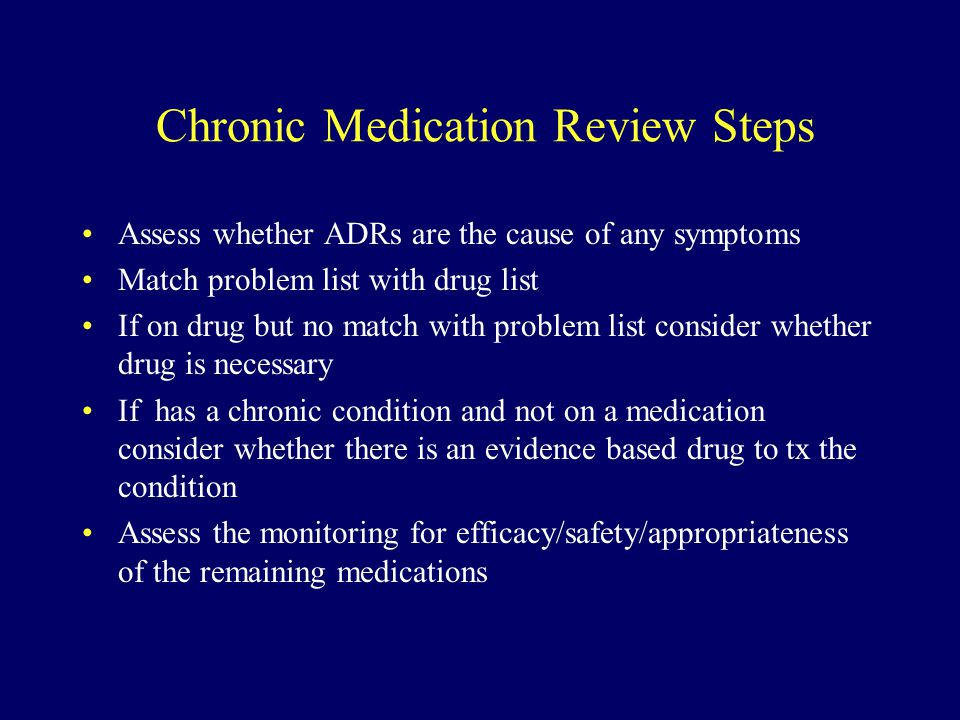 Chronic Medication Review Steps