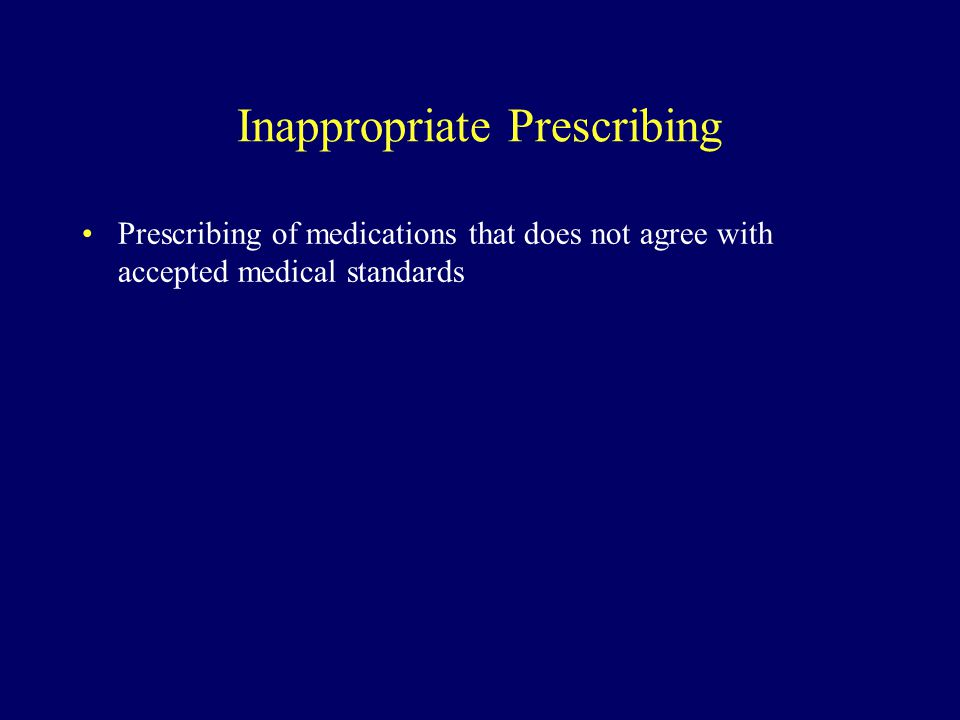 Inappropriate Prescribing