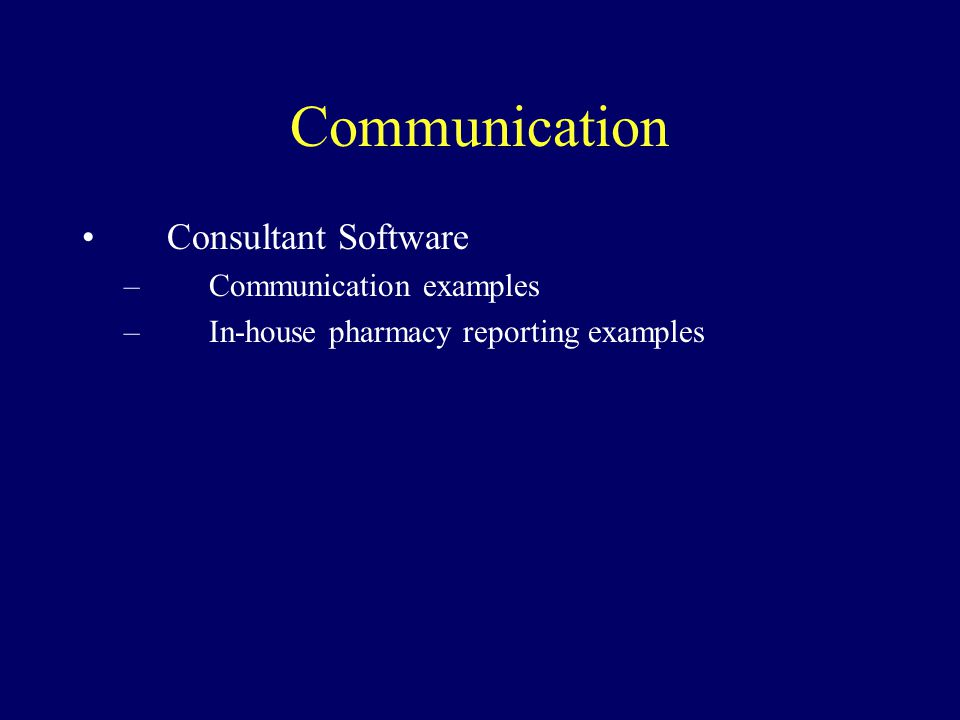Communication Consultant Software Communication examples